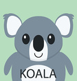 Cute Coala bear cartoon flat icon avatar vector image vector image