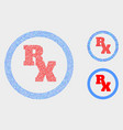 dot rx receipt symbol icons vector image vector image