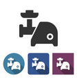 electric meat chopper icon in different variants vector image vector image