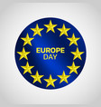 europe day logo icon design vector image