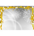gold mistletoe on the christmas background vector image vector image