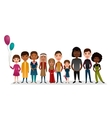 Group of smiling children different nationalities vector image vector image