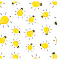 halogen lightbulb seamless pattern background vector image