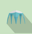 hight tent icon flat style vector image