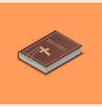 holy bible with a cross vector image
