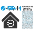 Home Login Icon with 1000 Medical Business vector image vector image