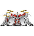 huge 10 piece rock drum set vector image