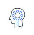 human head profile and cogwheel icon psychology vector image vector image