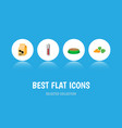 icon flat animal set of hare nutrition carrot vector image vector image