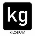 kilogram symbol vector image vector image