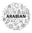 linear arabic template vector image vector image