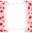 momo peach flower blossom banner card border vector image vector image