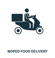 moped food delivery icon mobile apps printing vector image