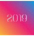 number 2019 in monogram style against vector image vector image