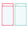 paper note list pad planner set cell texture to vector image