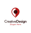 pin location traveling creative icon logo vector image vector image