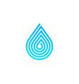 pixel water logo icon design vector image