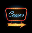 retro banner motel sign isolated on black vector image vector image