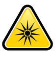 Safety signs warning triangle sign vector image vector image