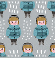 seamless pattern with cute children boys vector image vector image