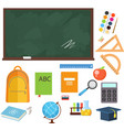 set from school objects vector image vector image