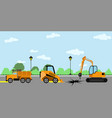 set of a construction machine vector image