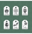 Set of six grunge gift tags for Halloween vector image