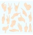 set of universal gestures of vector image vector image