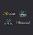 set retro vintage money and bank cash diamond vector image vector image