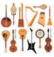 set stringed musical instruments classical vector image vector image