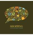 shopping communication bubble vector image vector image