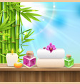 spa realistic composition vector image vector image