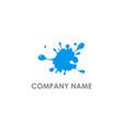 splash water abstract logo vector image