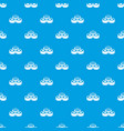 Sushi pattern seamless blue vector image
