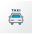 taxi icon colored line symbol premium quality vector image vector image