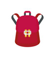trendy backpack icon flat style vector image vector image