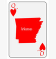usa playing card queen hearts vector image