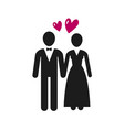 wedding marriage logo or label newlyweds bride vector image