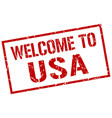 welcome to usa stamp vector image vector image