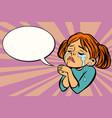 woman praying and crying vector image vector image
