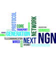 word cloud ngn vector image vector image