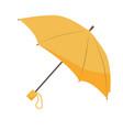 yellow umbrella isolated on white background vector image