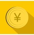 Yen icon flat style vector image vector image