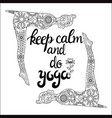 yoga and meditation concept background with text vector image