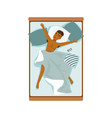 young african man sleeping in his bed relaxing vector image vector image