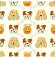 Seamless pattern with cute dogs vector image