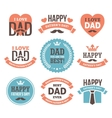 Fathers Day Labels and Signs vector image