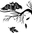 owl on a tree branch vector image