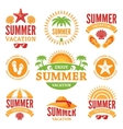 Summer Holidays Labels vector image