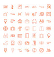 49 journey icons vector image vector image